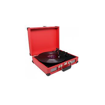 Soundmaster PL580RO Platenspeler Koffermodel Rood