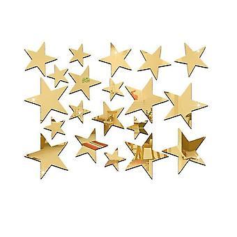 TRIXES 23PC specchio decorazione Set adesivi stella d'oro per la casa