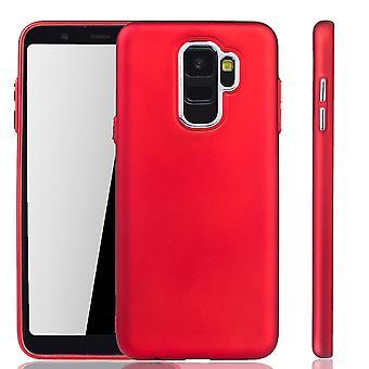 Samsung Galaxy A6 2018 - mobiltelefon tilfelle for Samsung Galaxy A6 2018 - mobile sak i rødt