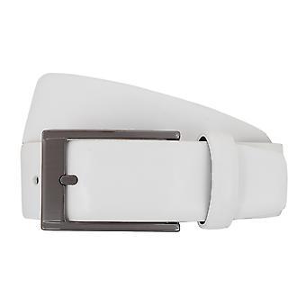 SAKLANI & FRIESE belts men's belts leather belt white 7678