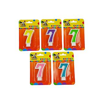 Party favors  Birthday candle with number 7