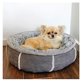 Rosewood 40 Winks Deep Plush Donut Pet Bed