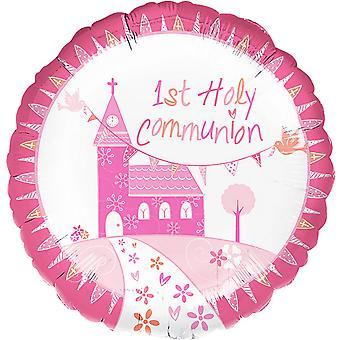 Amscan 18 palců církevní kostel růžový kroužek bublina fólie