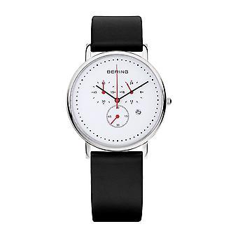 Bering Herren Uhr Armbanduhr Slim Classic Chronograph - 10540-AZ1 Leder