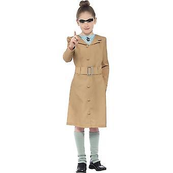 Roald Dahl Miss Trunchbull Costume, Beige, with Dress, Leg Warmers & Eyebrow
