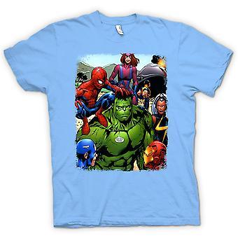 T-shirt-Hulk Spiderman Iron Man
