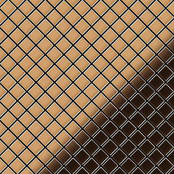Metal mosaiikki kuparin seos Diamond-CM