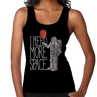 I Need More Space Astronaut Balloon Women's Vest