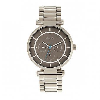 Simplify The 4800 Bracelet Watch w/Day/Date - Silver/Grey