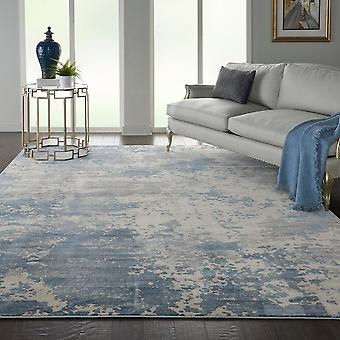 Rustic Textures RUS08 Grey Blue  Rectangle Rugs Modern Rugs