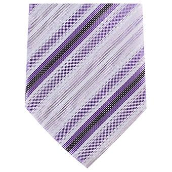 Knightsbridge Neckwear Tonal Stripe Regular Polyester Tie - Purple