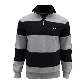 Rockport Men's Bailey 1/2 Zip Striped Sweatshirt
