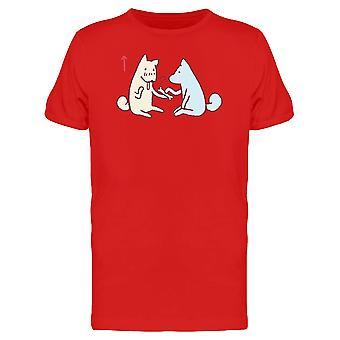 Trauriger Hund und Knochen Spielzeug T-Shirt Herren-Bild von Shutterstock