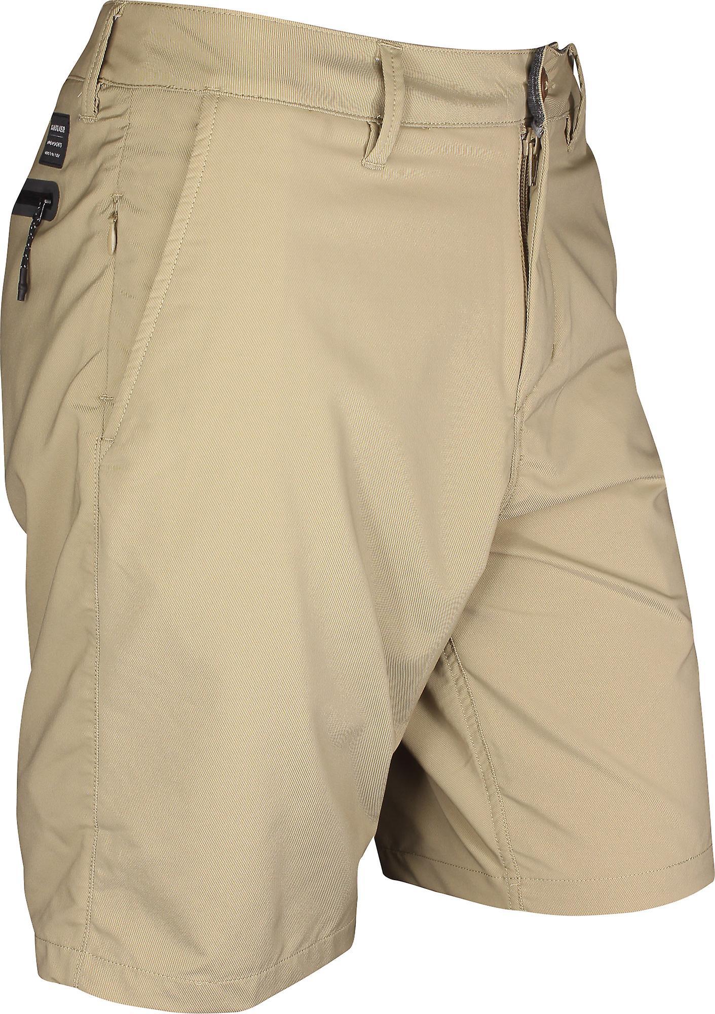 Quiksilver Mens transitt Twill Amphibian 20-Shorts - Elmwood Brown