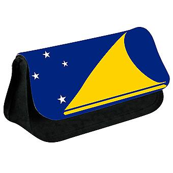 Tokelau Flag Printed Design Pencil Case for Stationary/Cosmetic - 0233 (Black) by i-Tronixs