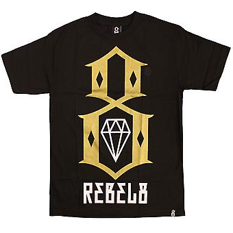 Rebel8 Logo T-shirt Black Gold