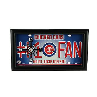 MLB Chicago Cubs Number 1 Fan License Plate Mantel or Wall Clock