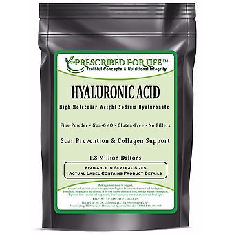 حمض الهيالورونك - الغذاء الطبيعي الصف الصوديوم هيالورونات (HA) مسحوق - ارتفاع الوزن الجزيئي 1.8 ميل دالتون