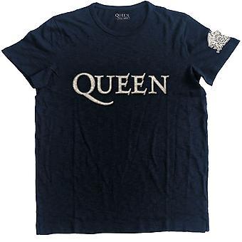 Reine des hommes logo et crête applique motif T-Shirt