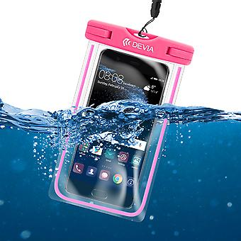 Waterproof case IPx8 (up to 30 m depth) Smartphone 5.5' Pink