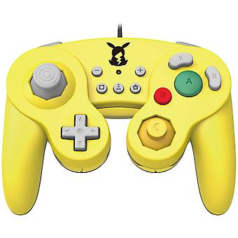Hori Smash Bros Gamecube Style Controller for Nintendo Switch Pikachu Version