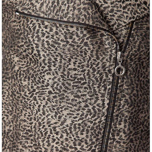 MW by Matthew Williamson Baby Leopard Print Jaquard Biker Jacket - Silver