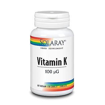 Solaray Vitamine K 100mcg Comprimés 60 (1046)