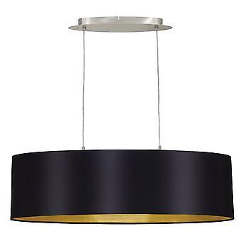 Eglo Maserlo ovaal zwart en goud hanger