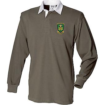 Royal Artillery 29 Commando regiment-lisensiert britiske hæren brodert langermet rugby skjorte