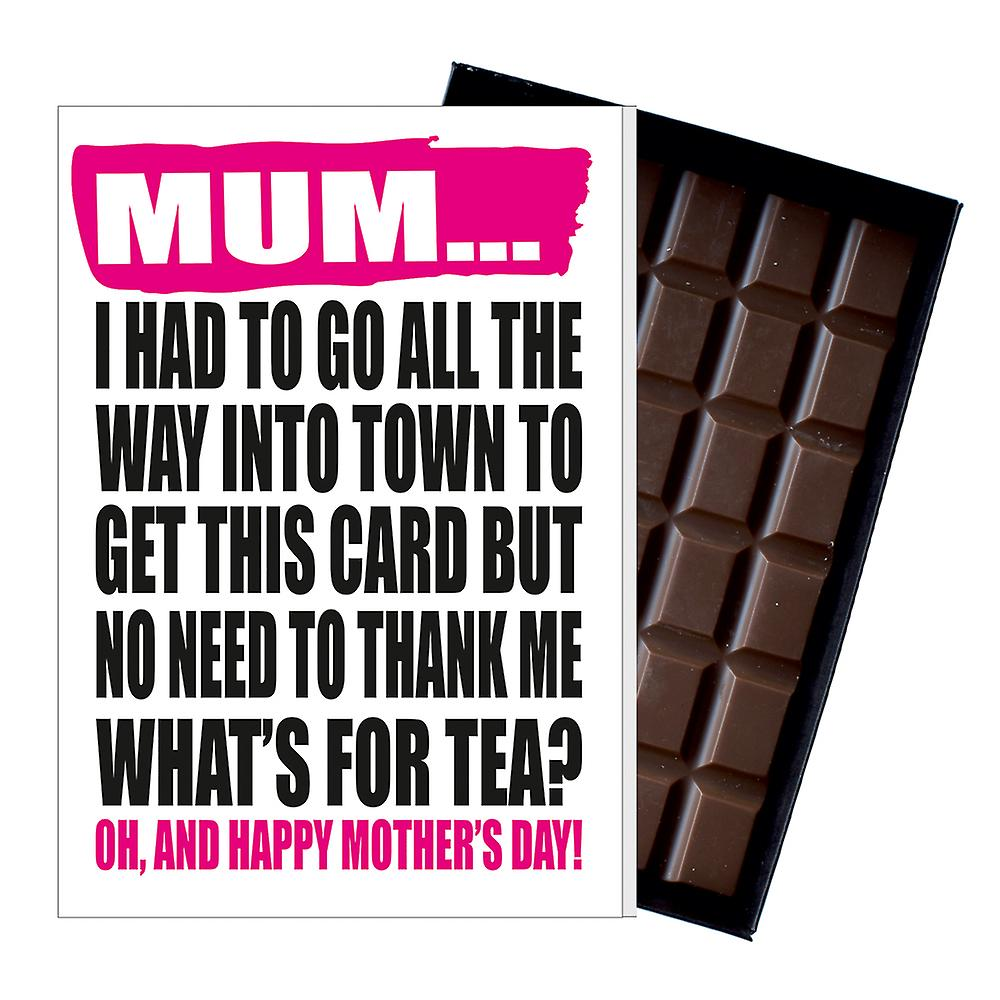 Funny Mother's Day Gift Boxed Chocolate Present Rude Greeting Card For Mom Mum Mumy MIYF140