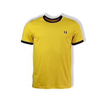 Fred Perry Ringer T-shirt met korte mouwen (Sunglow)