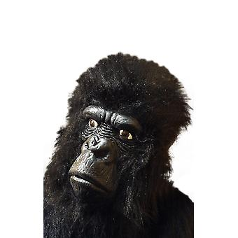 Smiffys Czarny Hairy Gorilla Mask Fancy Dress Kostium Akcesoria