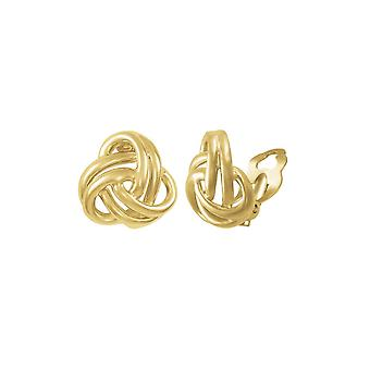 Eternal Collection Entwined Gold Tone Classic Knot Stud Clip On Earrings