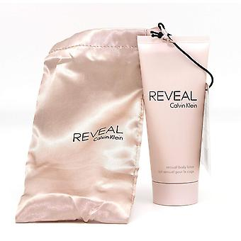 2 x 100ml Calvin Klein Reveal Sensual Body Lotion With Satin Pouch