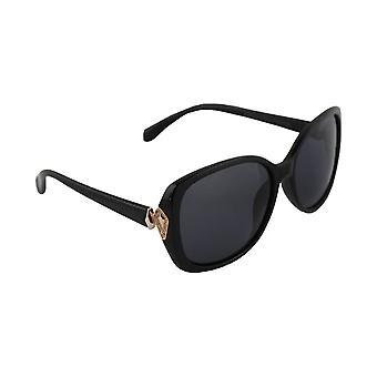 Zonnebrillen Dames Polaroid Rechthoekig - Zwart/Goud met gratis brillenkokerS332_5