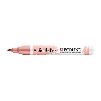 Talens Ecoline Liquid Watercolour Brush Pen - 381 Pastel Red