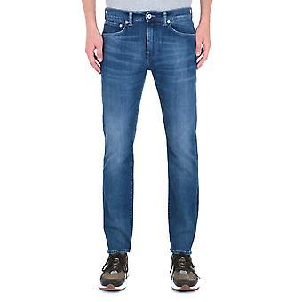 Edwin ED-80 CS Braxton Blau Denim Birger waschen schlanke verjüngte Jeans