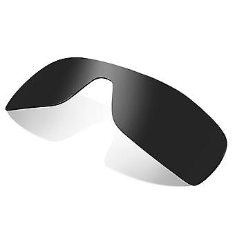 Replacement Lenses for Oakley Batwolf Sunglasses Dark Black Iridium Anti-Scratch Anti-Glare UV400 by SeekOptics