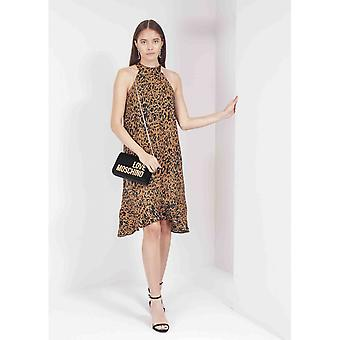 Saint Tropez Leopard High Neck Dress