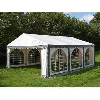Tente de réception Original 3x6m PVC, Gris/Blanc