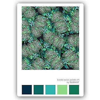 Impressão de metal, exotismo verde