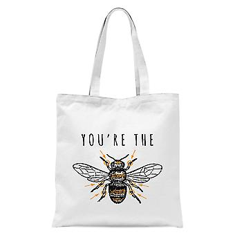 You-apos;re The Bees Knees Tote Bag - Blanc