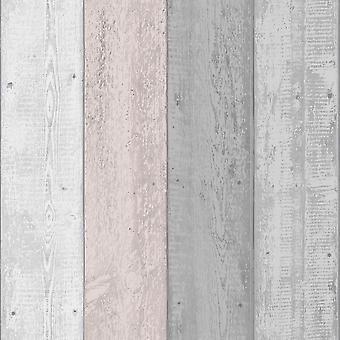 Malowane drewno Tapety Szary / Blush Arthouse 902809