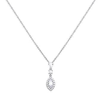 Diamonfire Marquise Pave Surround Cubic Zirconia Necklace N4340