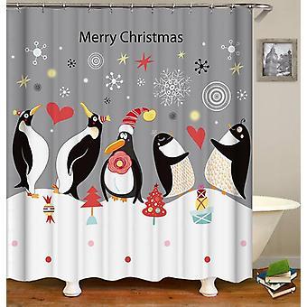 Weihnachten Pinguine Duschvorhang