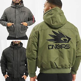 Mens Winter Jacket Dangerous DNGRS Tower Hood Lined Parka Warm Outdoor Grenadier