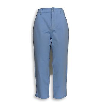 Isaac Mizrahi Live! Kvinner ' s Petite jeans 12 24/7 farget denim blå A290887