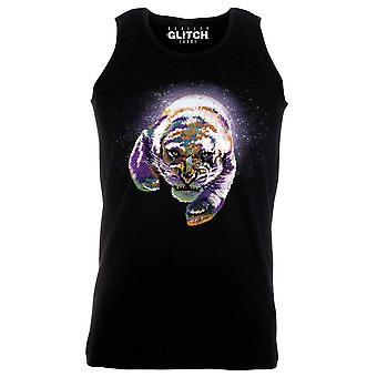 Reality glitch space tiger mens vest