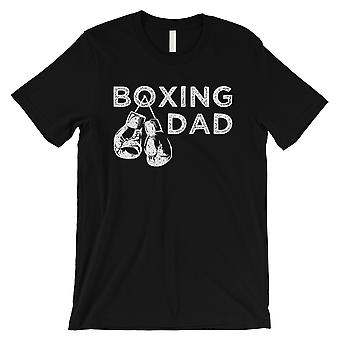 Boxing Dad Mens Black Appreciated Blessed Father's Day Shirt Gift