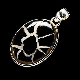 Septarian Geode 925 Sterling Silver Pendant 1 5/8